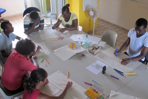 Atelier à Kourou dans le cadre de la Démarche jeunesse